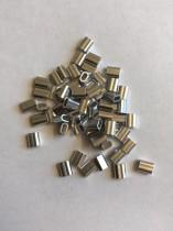 50 Polierte Aluminium Klemmhülsen 1,5mm